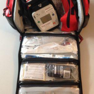 Notfalltasche Plane mit AED FRED easyport