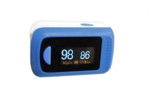 Fingerpulsoximeter blau