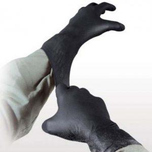 Einmalhandschuhe schwarz