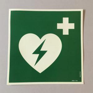 Schild AED